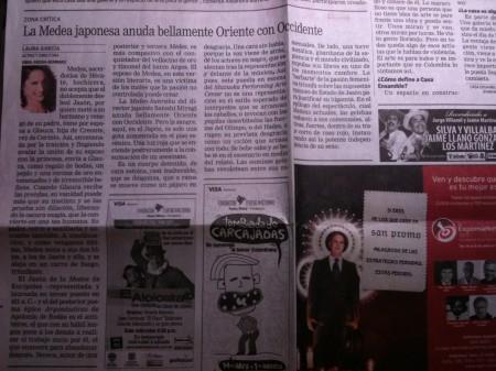 「エル・ティエンポ」紙の記事