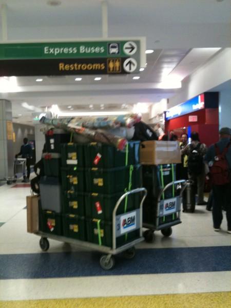 荷物一式、無事到着