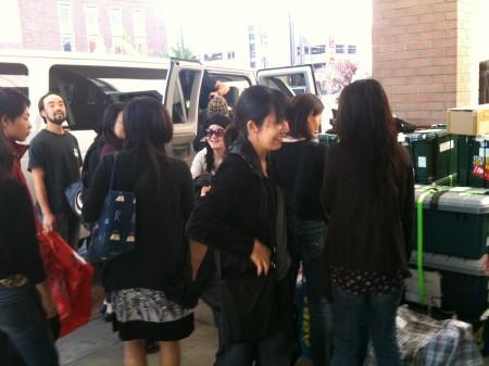 荷物が劇場からホテルに到着、もうすぐハンティントンともお別れ