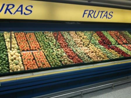 スーパーのフルーツ売り場