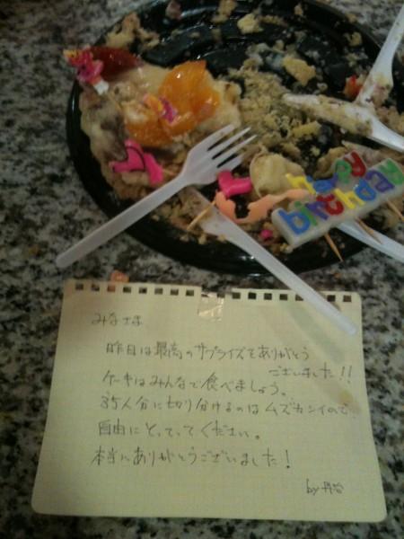 誕生日ケーキの残り