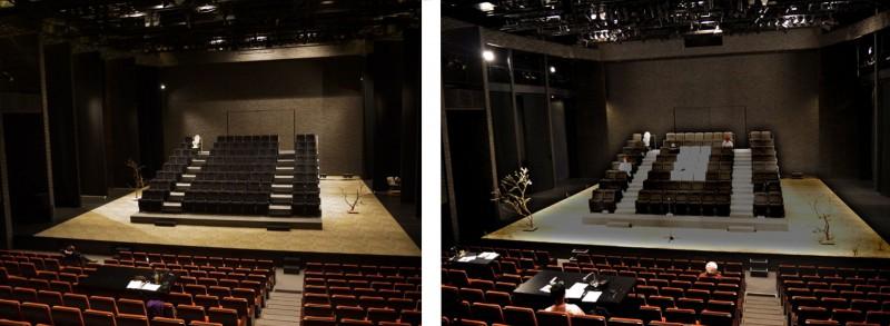 劇場の舞台(2012年と現在)