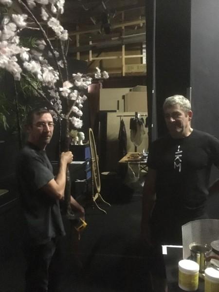 左)舞台監督/Michel Croptier ミシェル・クロプティエ 右)俳優/Pierre-Yves Le Louarn ピエール=イヴ・ル・ルアルン